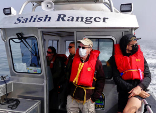 Restoration team heading to the Trial Islands